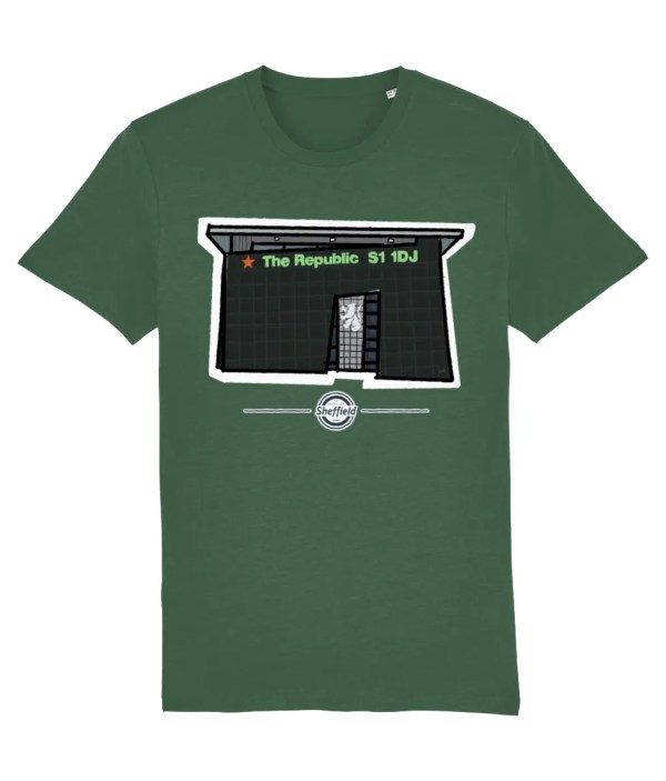 The Republic Sheffield T-Shirt, Bottle Green