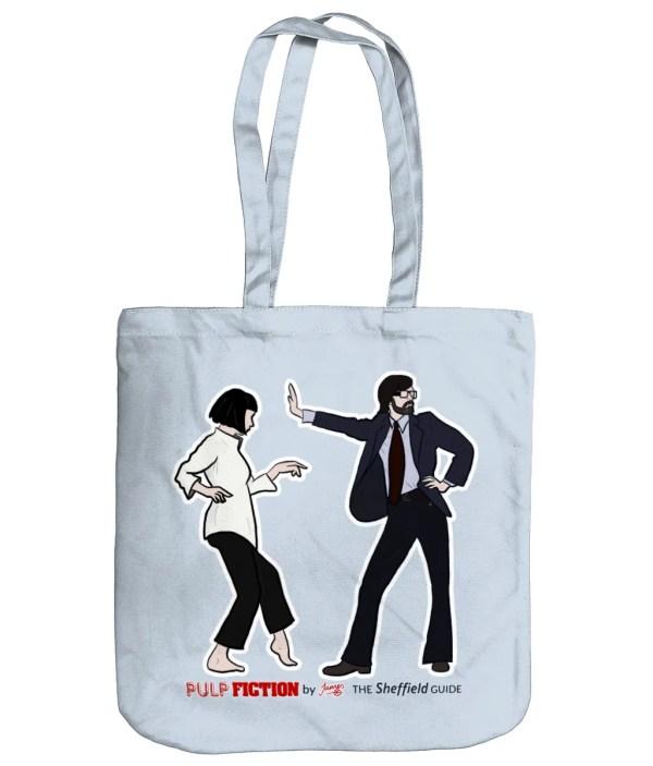 Pulp Fiction (Jarvis Cocker) Organic Tote Bag, Pastel Blue