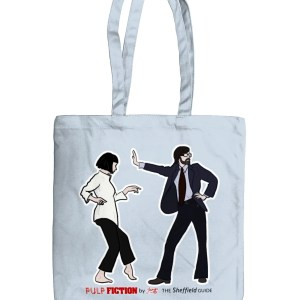 Pulp Fiction (Jarvis Cocker) Organic Tote Bag, Pastel Blue