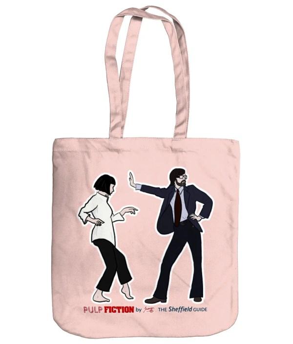 Pulp Fiction (Jarvis Cocker) Organic Tote Bag, Pastel Pink