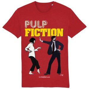 Pulp Fiction (Jarvis Cocker) T-Shirt, Bright Red