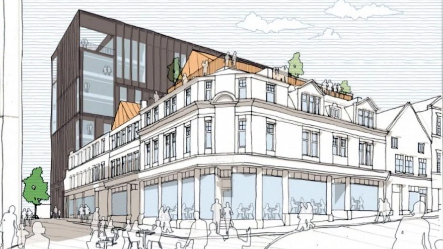 Plan Drawings for Block H of the Heart of the City II Project which includes the Leah's Yard structure