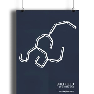 Sheffield DNA Art Print