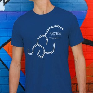 Sheffield DNA (Park Hill) T-Shirt, Majorelle Blue