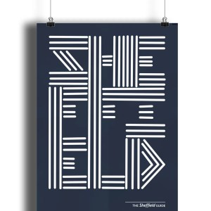 Sheffield Lines Typography Art Print