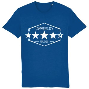 Tranquility: Four Out of Five (Arctic Monkeys) Organic T-Shirt, Majorelle Blue