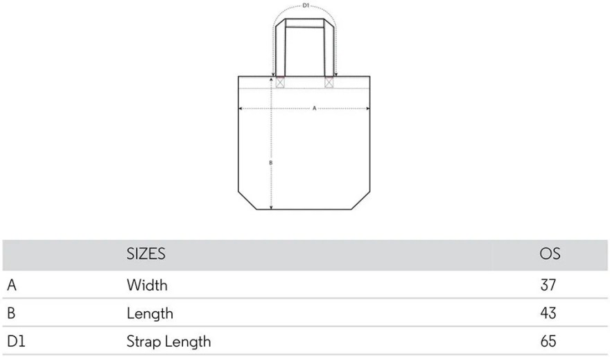 Embroidered Tote Bag Size Guide