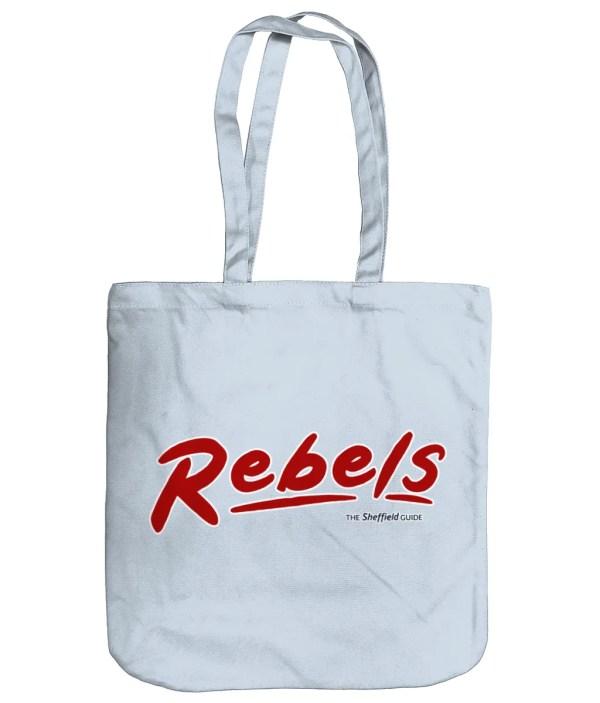 Rebels Rock Nightclub Sheffield Organic Tote Bag, Pastel Blue