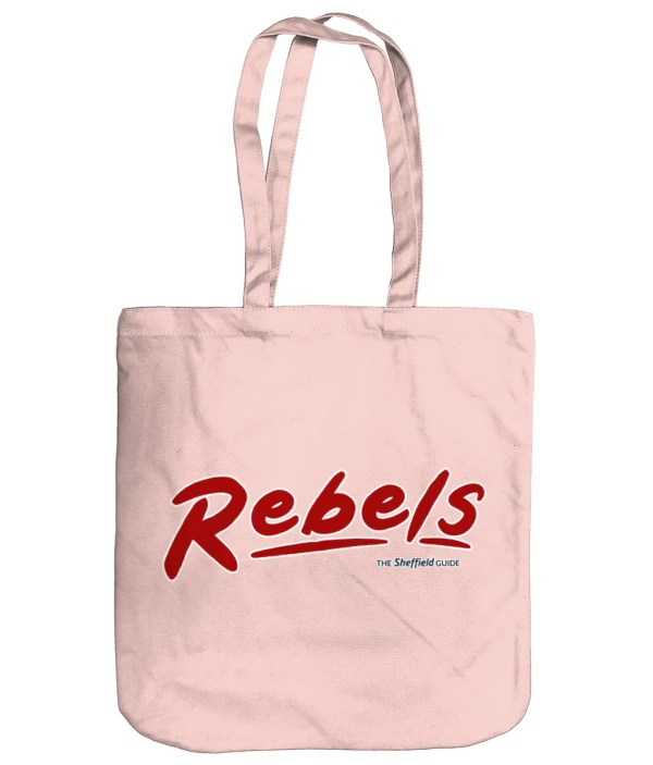 Rebels Rock Nightclub Sheffield Organic Tote Bag, Pastel Pink