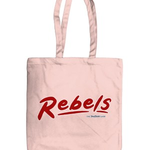 Rebels Rock Nightclub Sheffield Organic Tote Bag, Pastel Pink