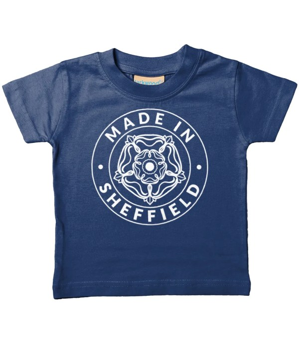 Made in Sheffield Organic Baby/Toddler T-Shirt, Navy