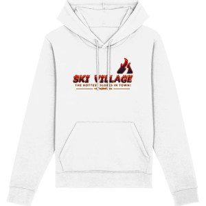 Ski Village: The Hottest Slopes in Town Hoodie, White