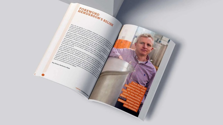 The Little Book of Sheffield Foreword Mockup, Henderson's Relish