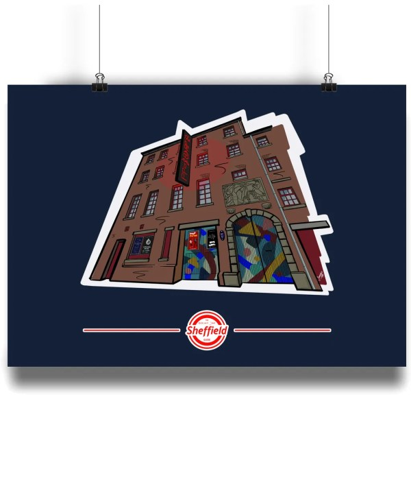 The Leadmill Art Print, Art by James exclusively for The Sheffield Guide