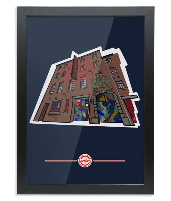 The Leadmill (Portrait) Framed Art Print: Art by James, exclusive to The Sheffield Guide