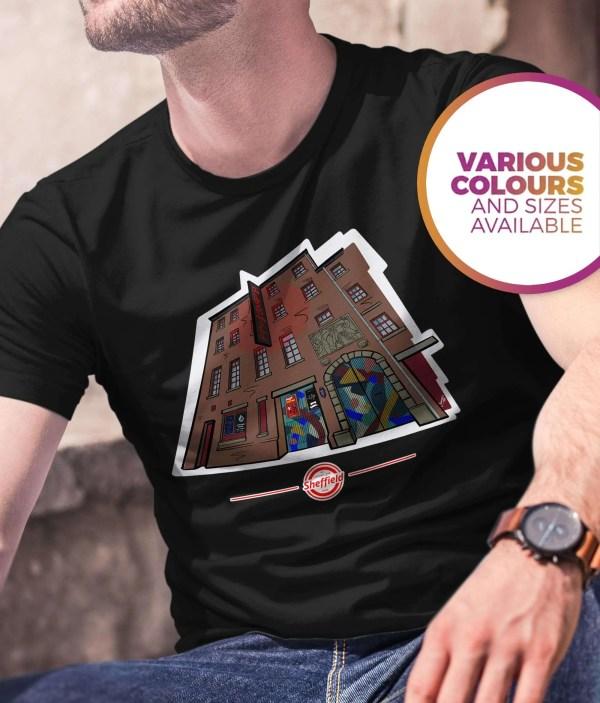 The Leadmill Sheffield T-Shirt (Art by James), Black