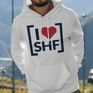 I LOVE SHEFFIELD [SHF] Hoodie, White