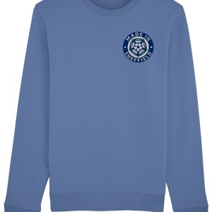 Made in Sheffield Embroidered Sweatshirt, Bright Blue