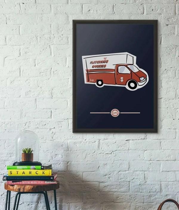 Fletchers Van Sheffield Framed Print — Art by James