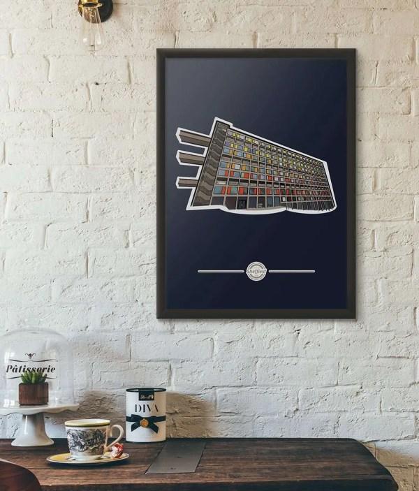 Park Hill Sheffield Framed Print — Art by James