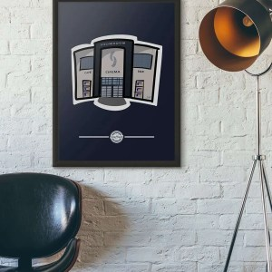 The Showroom Sheffield Framed Poster Print — Art by James