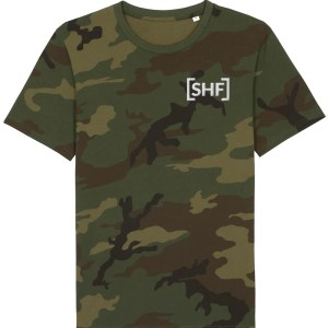 [SHF] Motif Embroidered Camouflage T-Shirt