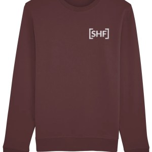 [SHF] Motif Embroidered Sweatshirt, Burgundy