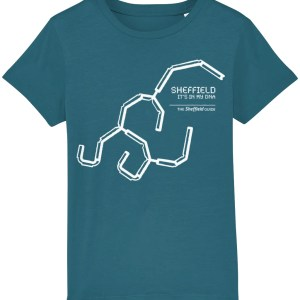 Sheffield DNA (Park Hill) Kids T-Shirt, Ocean Depth