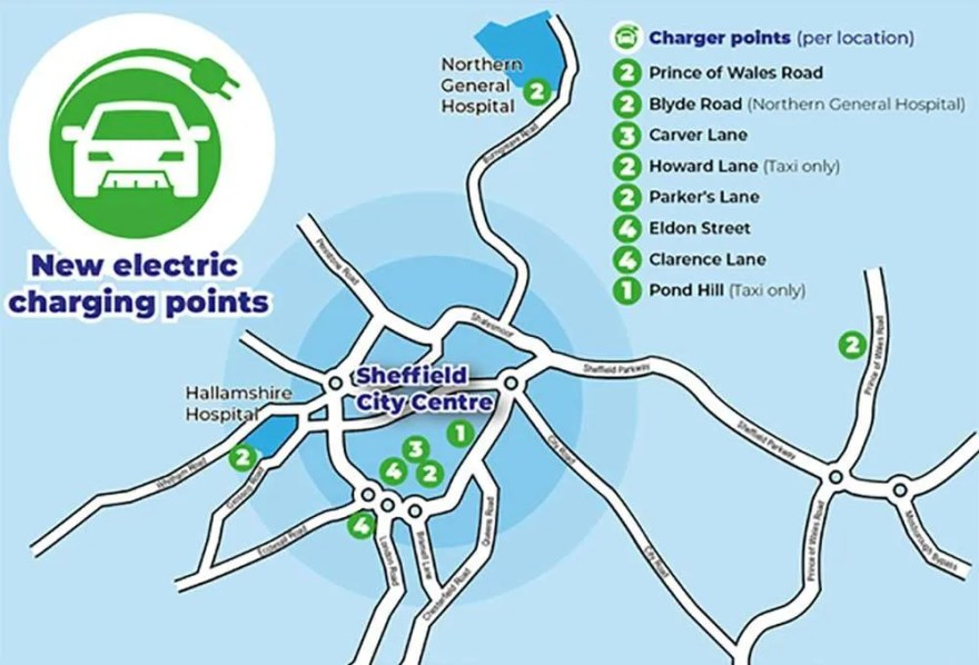 Electric Car Charging Points in Sheffield