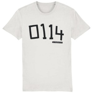 0114 Sheffield Organic T-Shirt, Vintage White