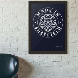 Made in Sheffield Framed Art Print
