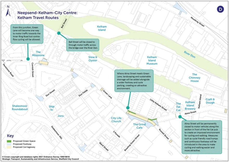 Proposed Active Travel Changes around Green Lane/Alma Street and surrounding areas