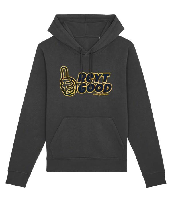 Reyt Good Sheffield Hoodie, Dark Heather Grey
