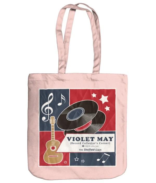 Violet May Sheffield Organic Tote Bag, Pastel Pink
