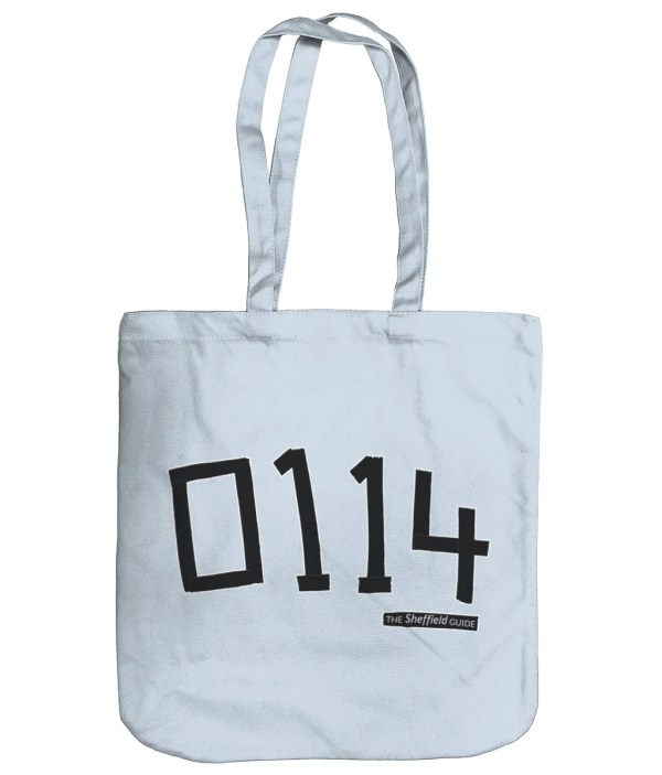 0114 Sheffield Organic Tote Bag, Pastel Blue