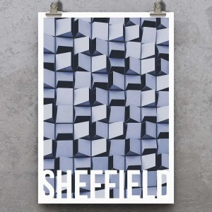 Cheese Grater Sheffield Poster Print