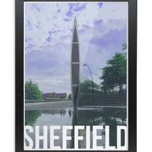Cutting Edge (Sheaf Square) Sheffield Destination Poster Framed Print