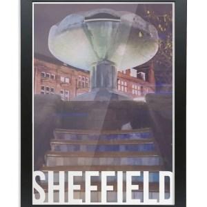 Peace Gardens Sheffield Destination Poster Framed Print