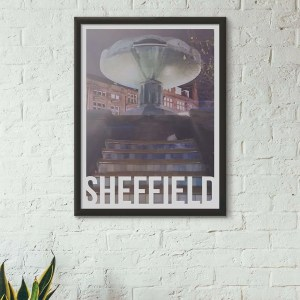 Peace Gardens Sheffield Art Destination Poster Framed Print