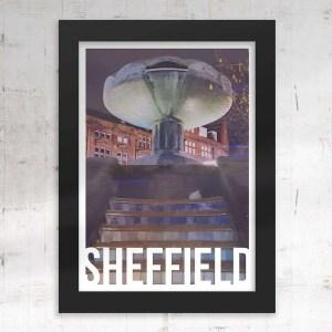 Peace Gardens Sheffield Art Destination Poster Framed Print
