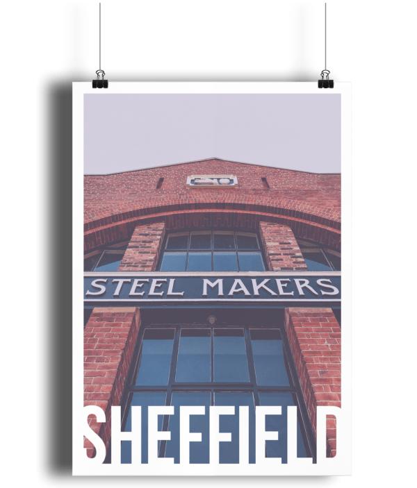 Steel Makers Sheffield Destination Poster Print