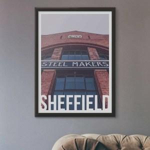 Steel Makers Sheffield Destination Poster Framed Print