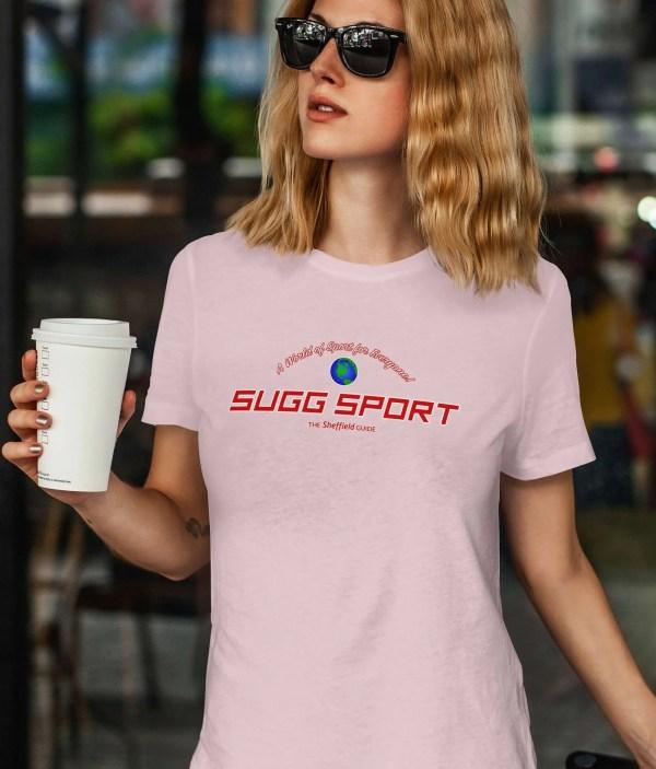 Sugg Sport Sheffield T-Shirt, Cotton Pink
