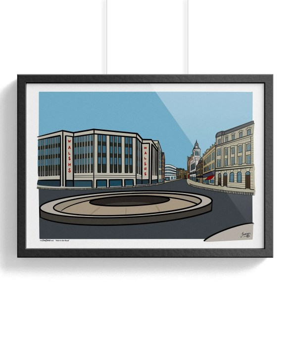 Hole in the Road Sheffield Framed Poster Wall Art Print