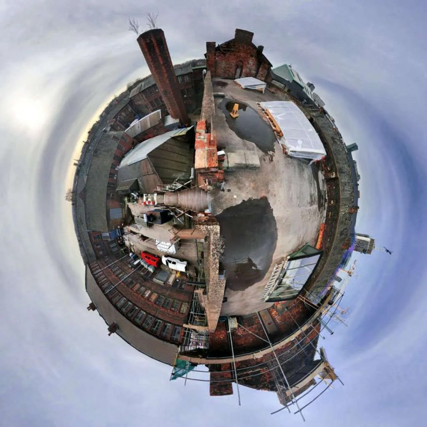 Portland Works 'Tiny Planet' by The Sheffield Guide