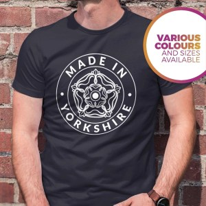 Made in Yorkshire T-Shirt, French Navy