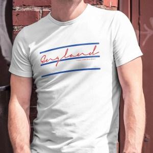 Three Lines on a Shirt England T-Shirt