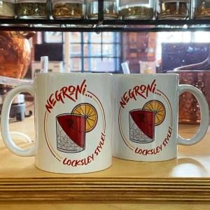Negroni… Locksley Style! Mug   Locksley Distilling X Sheffield Guide   Exclusive Art By James