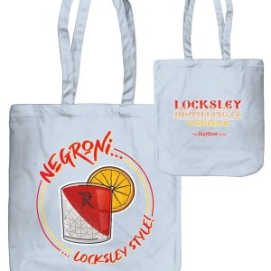 Negroni… Locksley Style! Organic Tote Bag, Pastel Blue | Locksley Distilling X Sheffield Guide | Exclusive Art By James