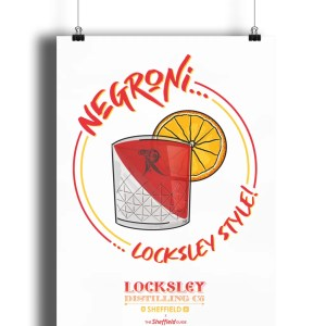 Negroni… Locksley Style! Art Print | Locksley Distilling X Sheffield Guide | Exclusive Art By James
